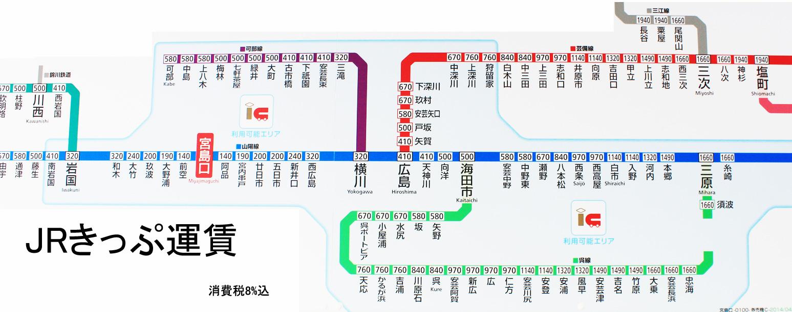 JR西日本 / JR九州 - 山陽本線 路線図 - 旅行のとも …