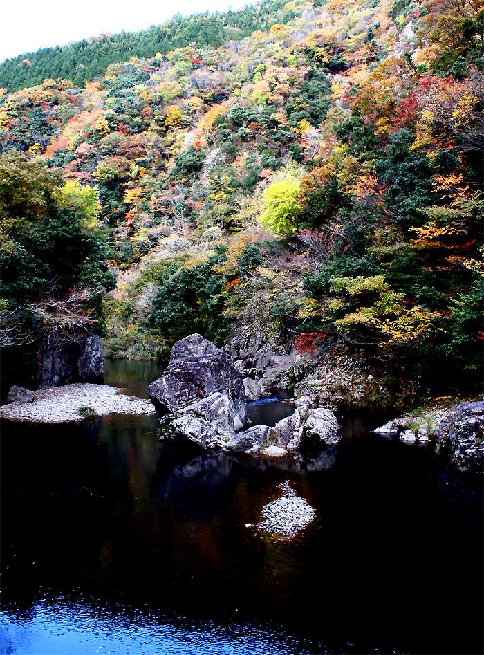 神原秋人_神之瀬峡の秋